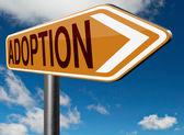 Adoption child sign — Stock Photo