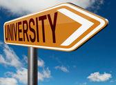 University education sign — Stock Photo