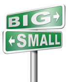 Big or small size matters — Stock Photo