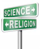Religion science relationship — Stock Photo