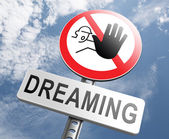 Stop dreaming face hard reality — Stock Photo