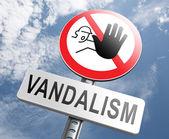 Stop vandalism sign — Stock Photo