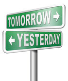 Yesterday or tomorrow future or past — Stock Photo