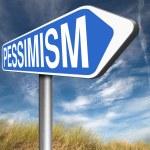 Pessimism road sign — Stock Photo #76448977