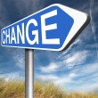 Change ahead sign — Stock Photo #76446977