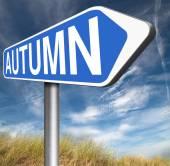 Next autumn sign — Stock Photo