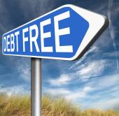 Debt free sign — Foto Stock