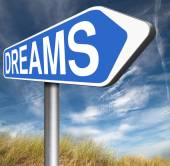 Dreams realize sign — Stock Photo