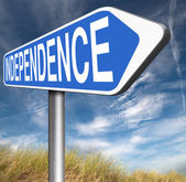 Independence road sign — Stock Photo