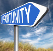 Opportunity road sign — Stock Photo