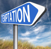 Temptation road sign — Stock Photo