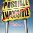 Possible or impossible sign — Stock Photo #76451057
