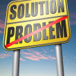 Finding solution for problems sign — Stock Photo #76451083