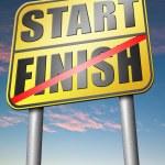 Start to finish sign — Stock Photo #76451341