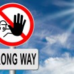Wrong way sign — Stock Photo #76452135