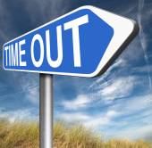 Time Out Zeichen — Stockfoto