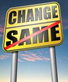 Change same sign — Stock Photo