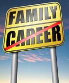 Career family balance — Stock Photo
