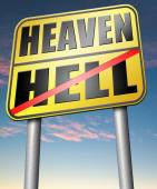 Heaven or Hell sign — Stock Photo