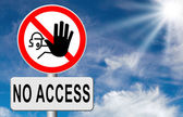 No access stop sign — Stock Photo