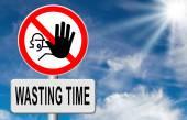 Přestat ztrácet čas — Stock fotografie