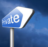 Private road sign — Stock Photo