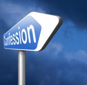 Confession  road sign — Stock Photo