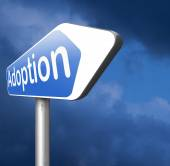 Adoption road sign — Stock Photo