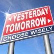 Постер, плакат: Yesterday or tomorrow future or past