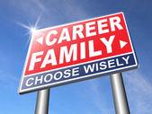 Career family balance road sign — Stock Photo
