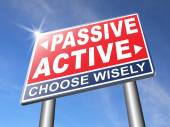 Active or passive road sign — Stock Photo