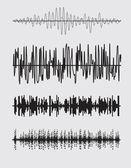 Vector sound waves set. — Stock Vector