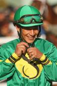 Thoroughbred Jockey Paco Lopez — Stock Photo