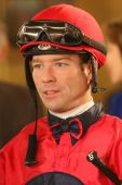 Thoroughbred Jockey Tyler Baze — Stock Photo