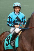 Portait of Veteran Jockey Victor Espinoza — Stock Photo