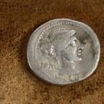 Roman Silver Denarius Coin 89 BC — Stock Photo #64556525