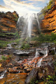 Waterfall, Lower Wentworth Falls, Blue Mountains Australia — Stock Photo