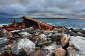 Storm over shipwreck at Sydney — Stock Photo