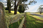 Beautiful lichen covered fence in the Southern Highlands — Stock Photo