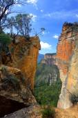 Burramoko Head and Hanging Rock in NSW Blue Mountains Australia — Stock Photo