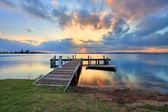 Atardecer en Belmont, lago Macquarie, Nsw Australia — Foto de Stock