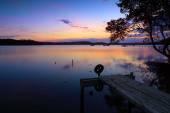 Sunset reflections Kincumber, Australia — Stock Photo