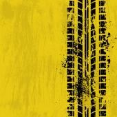 Tire track yellow — Stock Vector