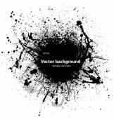 Black grunge ink blots — Vecteur
