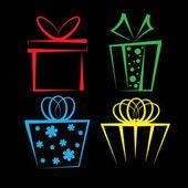 Gift box icon set — Stock Vector