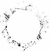 Ink blots circle — Stock Vector