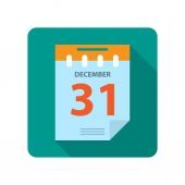 Flat new year calendar — Stock Vector