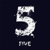 Grunge number five — Stock Vector