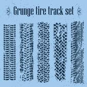 Tire tracks set — Stock Vector
