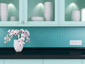 Modern kitchen design. — Stock Photo